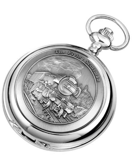 'Flying Scotsman' Quartz Pocket Watch with Chain